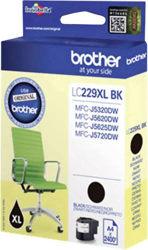 Brother Tinte LC-229XLBK Original Schwarz LC229XLBK von Brother