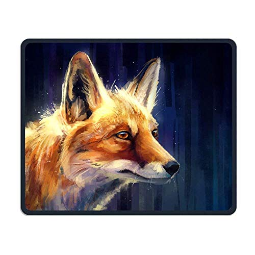 Artistic Fox Wildlife Comfortable Rectangle Rubber Base Mousepad Gaming Mouse Pad von Casepillows