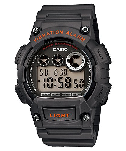 CASIO Damen-Armbanduhr Digital Quarz Leder W-735H-8A von Casio