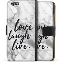 Apple iPhone 6s - Sideflip with flap - love, laugh, live Marmor von DeinDesign GmbH