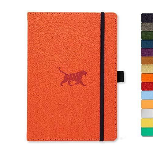Lesezeichen Dingbats D5017BL Wildlife A5+ Hardcover Notizbuch Mikroperforiert 100gsm Creme Seiten PU-Leder Innentasche Gummiband Kariert, Blauwal Stifthalter