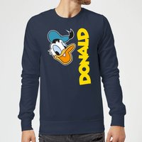 Disney Donald Duck Face Sweatshirt - Navy - XL - Marineblau von Disney