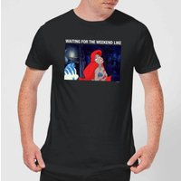 Disney Little Mermaid Weekend Wait Herren T-Shirt - Schwarz - S - Schwarz von Disney