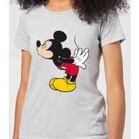 Disney Mickey Mouse Mickey Split Kiss Frauen T-Shirt - Grau - L - Grau von Disney