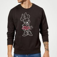 Disney Mini Mouse Line Art Sweatshirt - Black - L - Schwarz von Disney