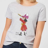 Disney Peter Pan Captain Hook Classic Damen T-Shirt - Grau - M - Grau von Disney