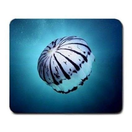 Drempad Gaming Mauspads Custom, (Jellyfish Mosue pad) Pretty Stripe Jellyfish Mouse Pad von Drempad