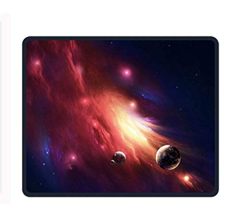 Drempad Gaming Mauspads Custom, Mouse Pad - Red Nebula - Ultra Thin Polycarbonate Professional-Grade Gaming Mouse Mat - Non-Slip Adhesive Base von Drempad