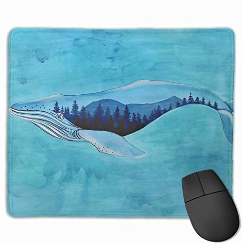 "Drempad Gaming Mauspads Custom, Mouse Pad Whimsical Whale Art Painting Rectangle Non-Slip 11.8""*9.8"" Inches Unique Designs Gaming Rubber Mousepad Stitched Edges Mouse Mat von Drempad"