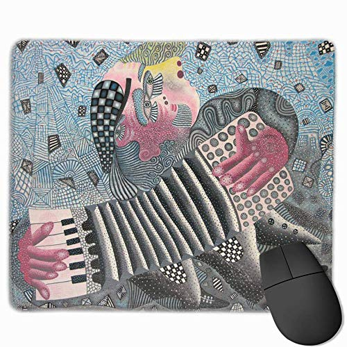 Drempad Gaming Mauspads Custom, Non-Slip Mouse Pads Rectangle Rubber Mousepad Accordion Theatrical Print Gaming Mouse Pad von Drempad