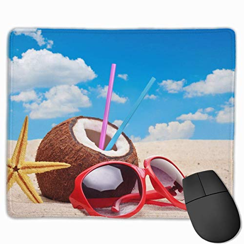 Drempad Gaming Mauspads Custom, Non-Slip Mouse Pads Rectangle Rubber Mousepad Coconut Summer Juice Print Gaming Mouse Pad von Drempad
