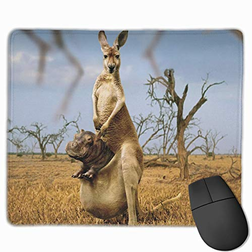 Drempad Gaming Mauspads Custom, Non-Slip Mouse Pads Rectangle Rubber Mousepad Hippo in The Kangaroo Print Gaming Mouse Pad von Drempad