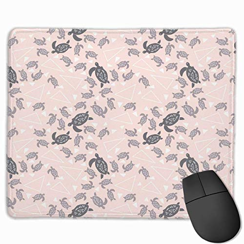 Drempad Gaming Mauspads Custom, Non-Slip Mouse Pads Rectangle Rubber Mousepad Sea Turtles Pink Print Gaming Mouse Pad von Drempad