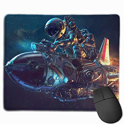 Drempad Gaming Mauspads Custom, Non-Slip Mouse Pads Rectangle Rubber Mousepad Space Astronaut Driving Print Gaming Mouse Pad von Drempad