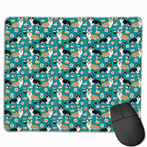 Drempad Gaming Mauspads Custom, Non-Slip Mouse Pads Rectangle Rubber Mousepad Sushi Corgi Print Gaming Mouse Pad von Drempad