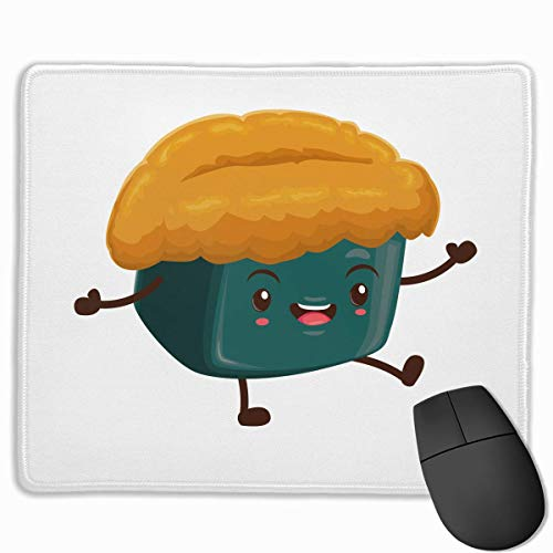 Drempad Gaming Mauspads Custom, Non-Slip Mouse Pads Rectangle Rubber Mousepad Sushi Happiness Print Gaming Mouse Pad von Drempad