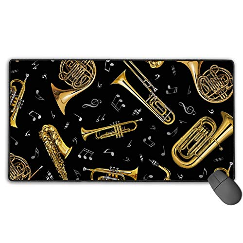 Drempad Gaming Mauspads Custom, Non-Slip Mouse Pads Rectangle Rubber Mousepad Trombone Instruments Print Gaming Mouse Pad von Drempad