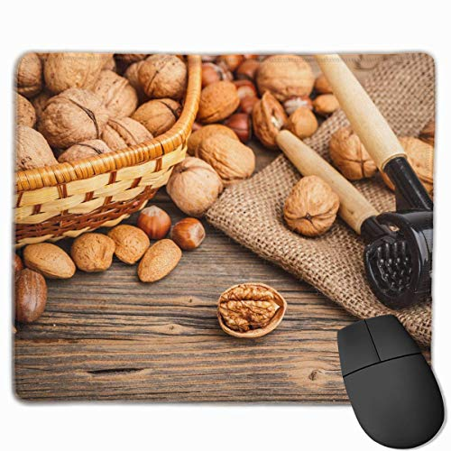 Drempad Gaming Mauspads Custom, Non-Slip Mouse Pads Rectangle Rubber Mousepad Walnuts Print Gaming Mouse Pad von Drempad