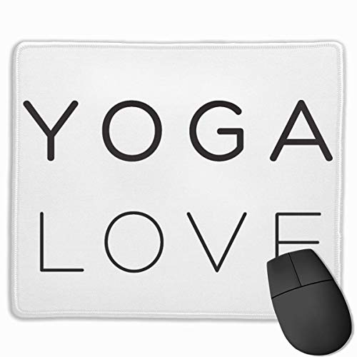 Drempad Gaming Mauspads Custom, Non-Slip Mouse Pads Rectangle Rubber Mousepad Yoga Love Print Gaming Mouse Pad von Drempad