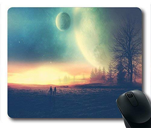 Drempad Gaming Mauspads Custom, Trees_plats Moon Hope Plains Oblong/Rectangle Mouse Pad Design Mouse pad in von Drempad