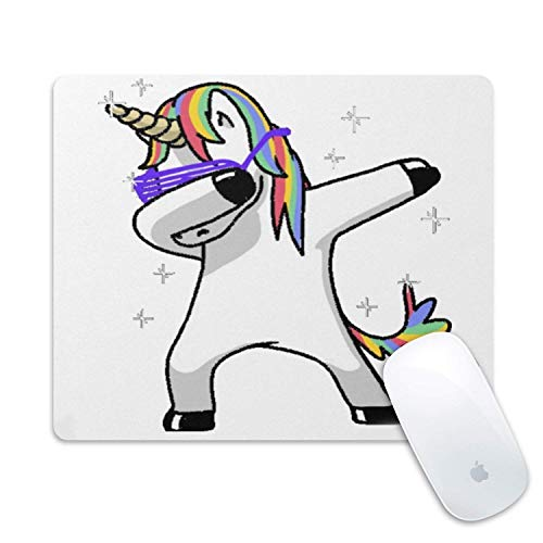 Drempad Gaming Mauspads Custom, Unicorn Mouse Pad, Mousepad Design Gaming Mouse Pad Rubber Oblong Mouse Mat(Dabbing Unicorn) von Drempad