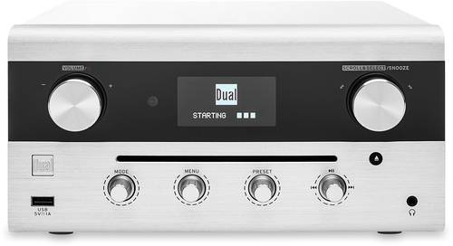 Dual CR 900 Phantom Internet CD-Radio DAB+, UKW AUX, Bluetooth®, CD, DLNA, NFC, USB, WLAN, Internet von Dual