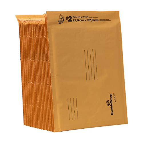 Duck Brand Kraft Bubble Mailers, 2-8.5 x 11 Inches, 25-Pack (394492) von Duck