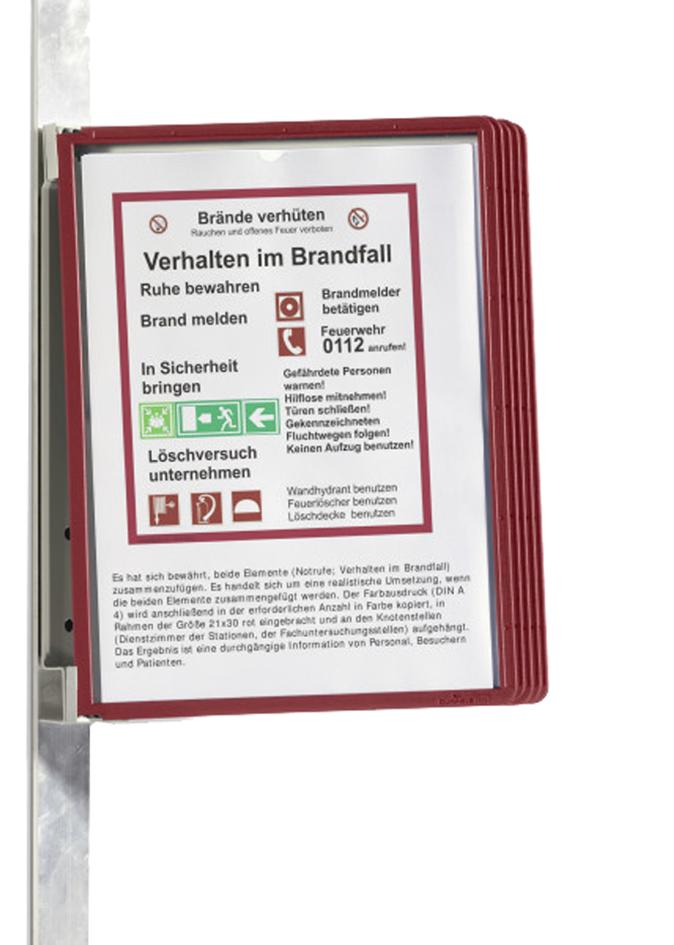 mit Sicherheitsverschluss, 44 x 10 mm Packung /à 10 St/ück rot Durable 811903 Textilband