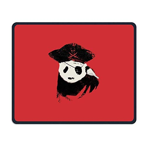 Funny Pirate Panda Gaming Mouse Pad Custom Design Non-Slip Rubber Mouse Mat for Desk,Laptop von EJjheadband