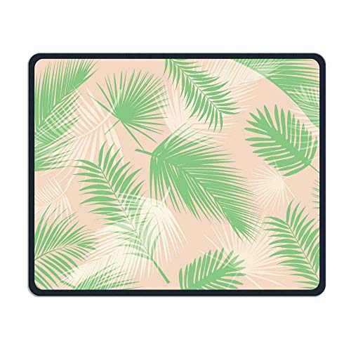 Orange Green Palm Leaf Gaming Mouse Pad Custom Design Non-Slip Rubber Mouse Mat for Desk,Laptop von EJjheadband