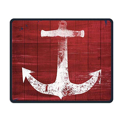 Red and White Anchor Gaming Mouse Pad Custom Design Non-Slip Rubber Mouse Mat for Desk,Laptop von EJjheadband