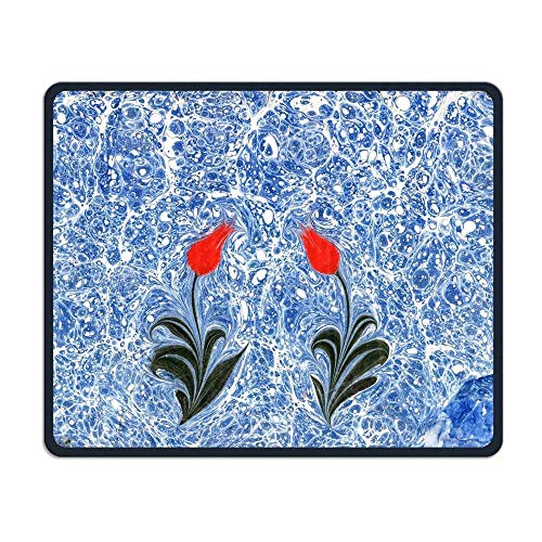 Tulip Marble Gaming Mouse Pad Custom Design Non-Slip Rubber Mouse Mat for Desk,Laptop von EJjheadband