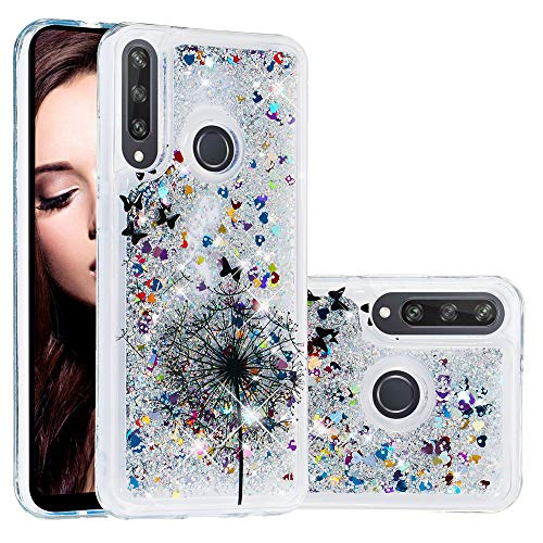 EMAXELER Huawei Y6P Hülle Cover 3D Kreatives Design Cartoon Muster Anti-Fall Stoßfest Fließend Treibsand Bling Glänzend Flüssigkeit TPU Soft Case für Huawei Y6P TPU Löwenzahn XY von EMAXELERR