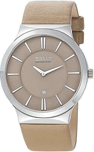 Esprit Collection Damen-Armbanduhr Cleodora Pure Analog Quarz Leder EL101532F03 von ESPRIT
