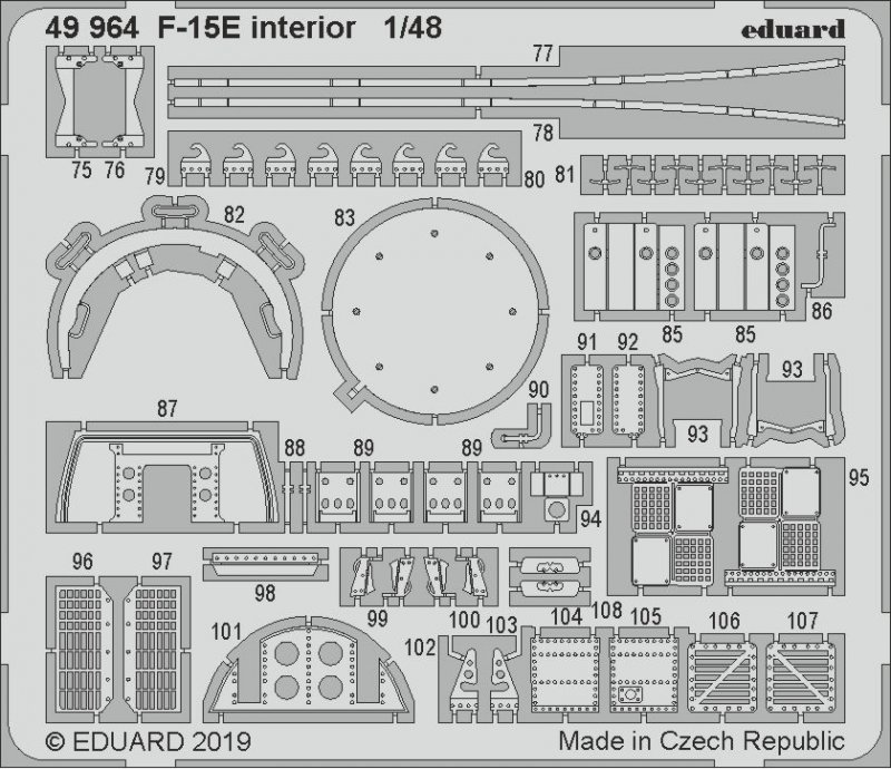 F-15E Strike Eagle - Interior [Great Wall Hobby] von Eduard