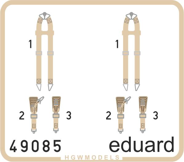 Seatbelts Luftwaffe WWII bombers SUPERFABRIC von Eduard