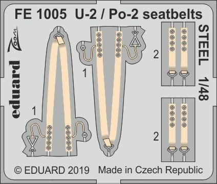 U-2 / Po-2 - Seatbelts STEEL [ICM] von Eduard