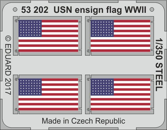 USN ensign flag WW2 STEEL von Eduard