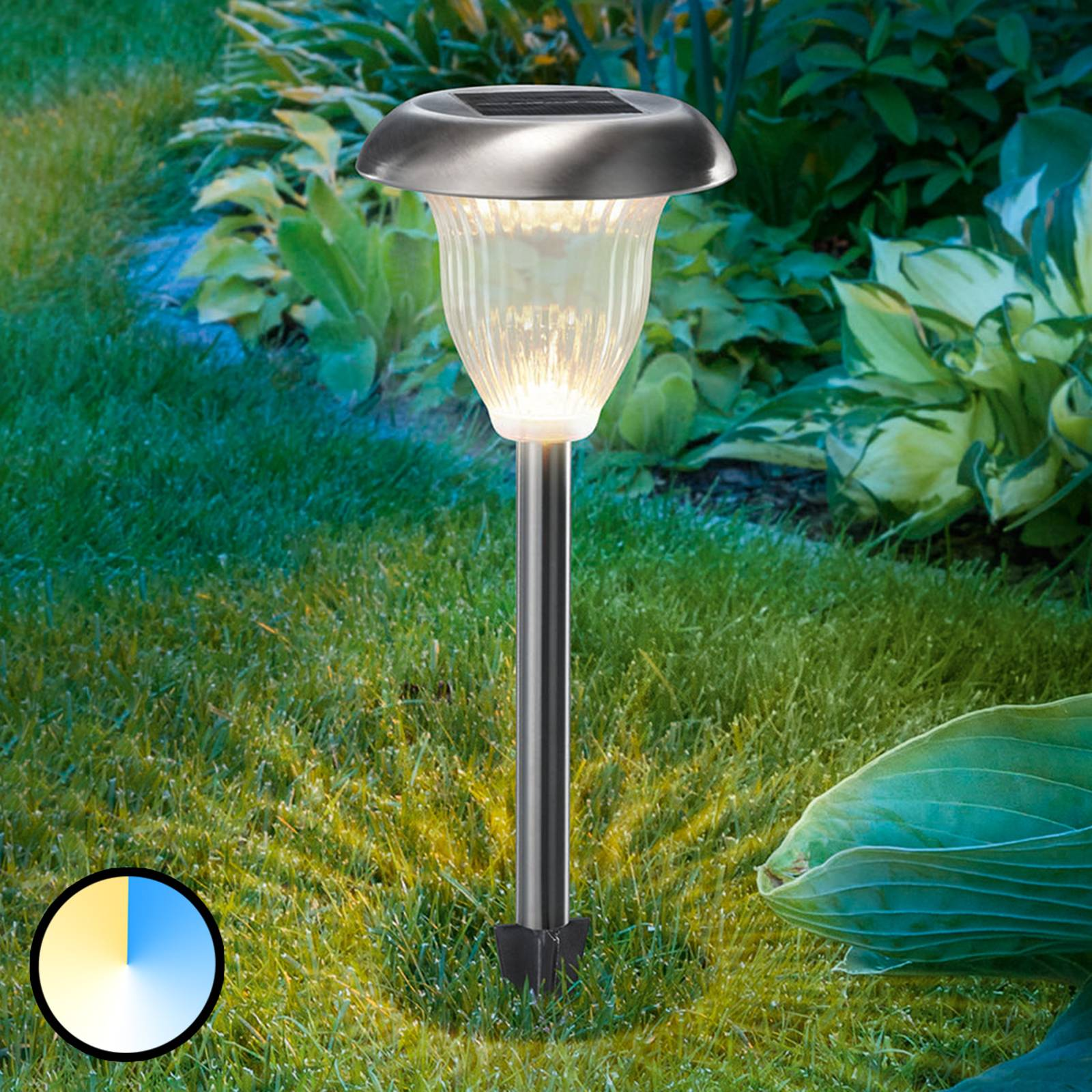 LED-Solarlampe Flower Light m. Duo-Color-Funktion von Esotec