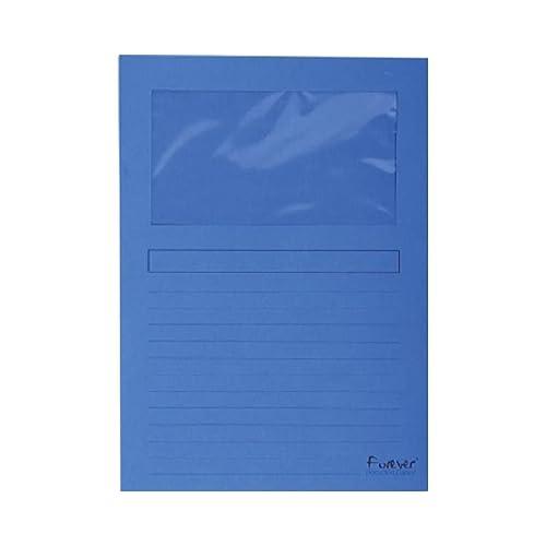 25er Packung Fenstermappen Forever DIN A4 Hellblau
