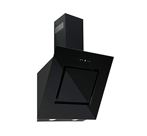 Wandhaube Dunstabzugshaube FIRE 80S  Schwarz Schwarzglas Dunstabzug 500m³//h LED