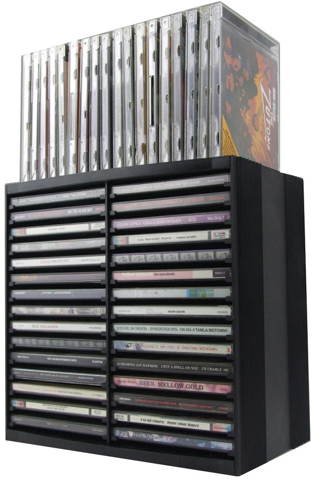 Fellowes CD-//DVD-Ablagebox Spring CD Ständer Aufbewahrung  schwarz für 30 CDs