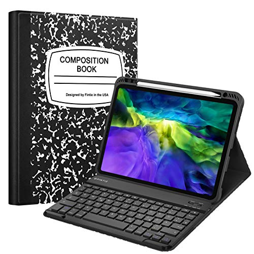 Fintie Tastatur H/ülle f/ür iPad 10.2 Zoll 2019 magnetisch Abnehmbarer drahtloser Bluetooth Tastatur mit QWERTZ Layout smaragdblau Soft TPU R/ückseite Geh/äuse Keyboard Case mit Pencil Halter