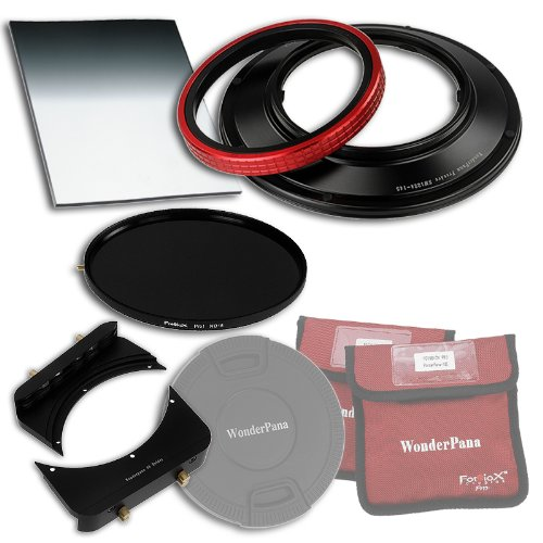 "WonderPana 66 FreeArc Essentials ND 0.6HE Kit - Rotating 145mm Filter System Holder, Lens Cap, Fotodiox Pro 6.6""x8.5"" 0.6 (2-stop) Hard Edge Grad ND and 145mm ND16 (4-Stop) Filters for the Sigma 12-24mm f/4.5-5.6 EX DG ASP HSM II Wide-Angle Zoom Lens (Full Frame 35mm) von Fotodiox"