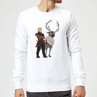 Frozen 2 Sven And Kristoff Sweatshirt - White - XXL - Weiß von Disney