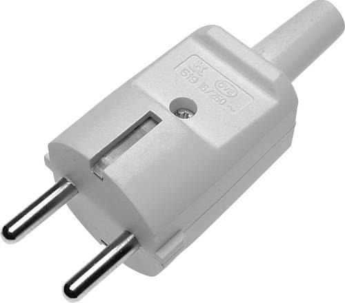 GAO 624404 Schutzkontaktkupplung PVC  230 V Grau IP20