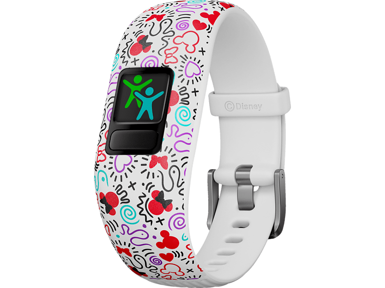 GARMIN VIVOFIT JR 2 DISNEY MINNIE MAUS, Fitnesstracker, 130-175 mm, Weiß/Bunt von GARMIN