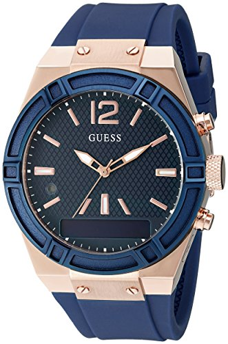 Guess Damen Analog-Digital Quarz Uhr mit Silikon Armband C0002M1 von Guess