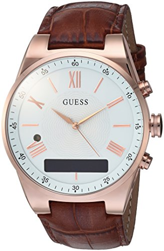 Guess Damen Analog-Digital Quarz Uhr mit Leder Armband C0002MB4 von Guess