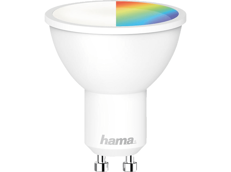HAMA GU10, 5.5 W, RGBW WLAN-LED Lampe Multi-Colour von HAMA